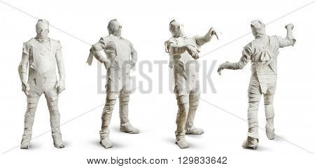 Men in toilet paper