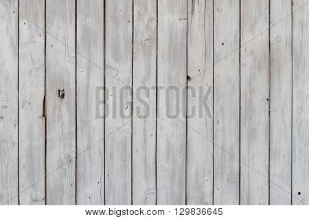 Weathered Wooden Slats Background, originally White Painted