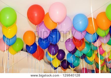 colorful balloons background for party and holiday