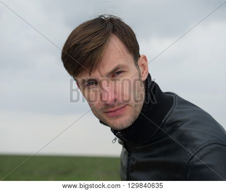 portrait of a young businessman businessman outdoors age 35 years