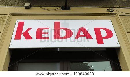 Kebap Store Sign