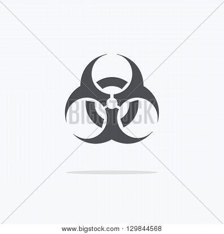 Biohazard sign icon. Black and white biohazard sign. Vector illustration.