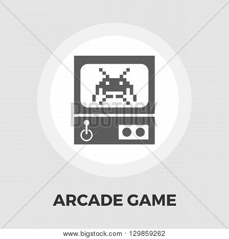 Retro Arcade Machine icon vector. Flat icon isolated on the white background. Editable EPS file. Vector illustration.