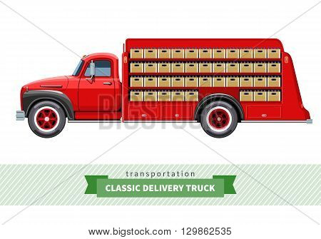 Classic Medium Duty Delivery Truck Side View
