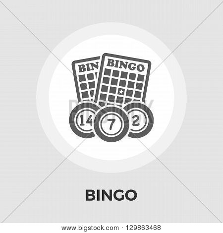 Bingo Icon Vector. Flat icon isolated on the white background. Editable EPS file. Vector illustration.