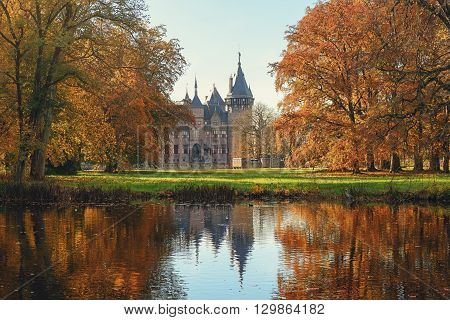 November 9 2014 Haarzuilens in The Netherlands a picture of Kasteel de Haar the largest and most luxurious castle in the Netherlands.