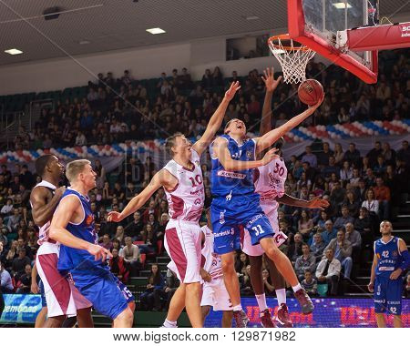 Bc Neptunas Forward Edgaras Ulanovas (31) Gets To The Rim