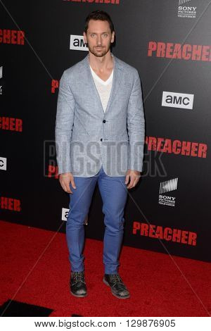 LOS ANGELES - MAY 14:  Derek Wilson at the Preacher Premiere Screening at the Regal 14 Theaters on May 14, 2016 in Los Angeles, CA