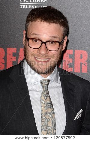 LOS ANGELES - MAY 14:  Seth Rogen at the Preacher Premiere Screening at the Regal 14 Theaters on May 14, 2016 in Los Angeles, CA