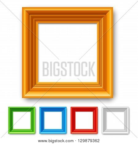 Set of 5 color picture frames or borders for photo or painting