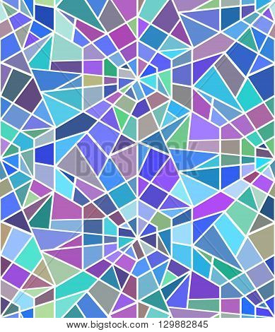Seamless texture with a broken stained glass. Vector background. Seamless pattern. Broken window
