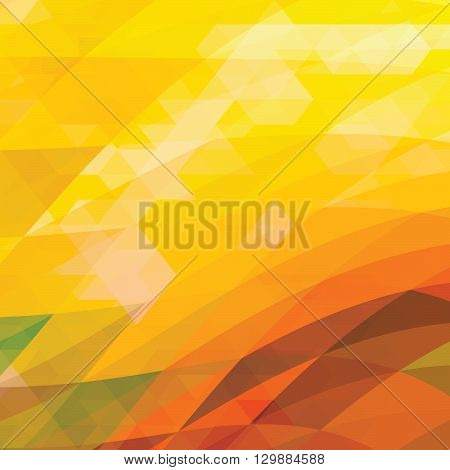 orange low poly style vector background - Illustration