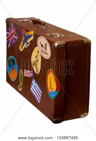 Brown Old Suitcase