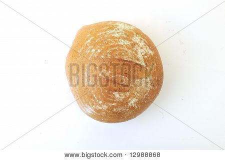 fresh bread food healthy product isolated on white poster