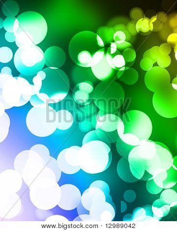 blurred christmas lights on a rainbow background poster
