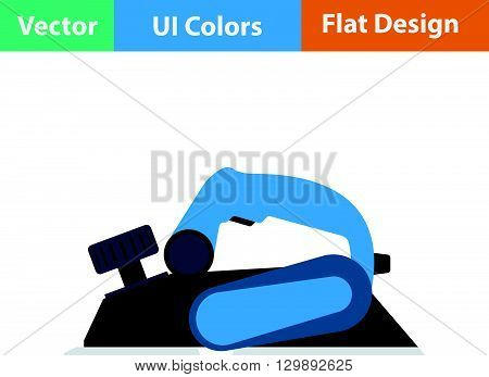 Flat Design Icon Of Electric Planer