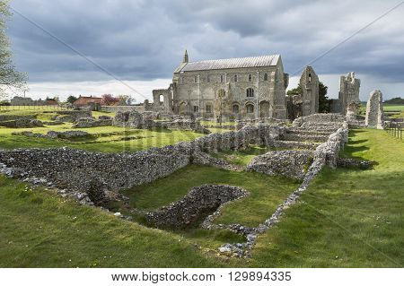 Binham Priory, Norfolk, England. 11th Century Benedictine monastery.