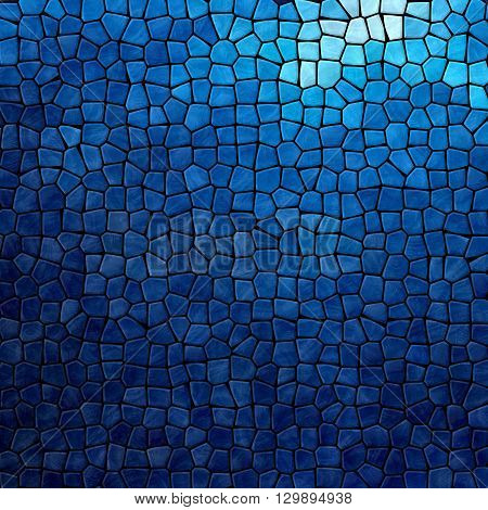 dark sea blue mosaic pattern texture background with black grout