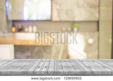 Abstract Blur Bathroom Interior For Background