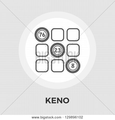 Keno icon vector. Flat icon isolated on the white background. Editable EPS file. Vector illustration.