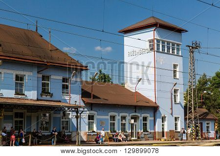Exterior View Of The Main Railway Station In Ruzomberok, Slovakia