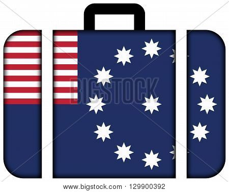 Flag Of Easton, Pennsylvania. Suitcase Icon, Travel And Transportation Concept