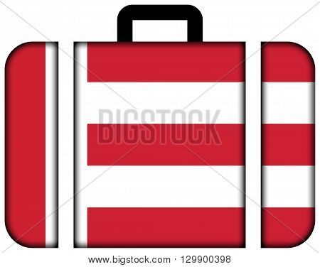 Flag Of Eindhoven. Suitcase Icon, Travel And Transportation Concept