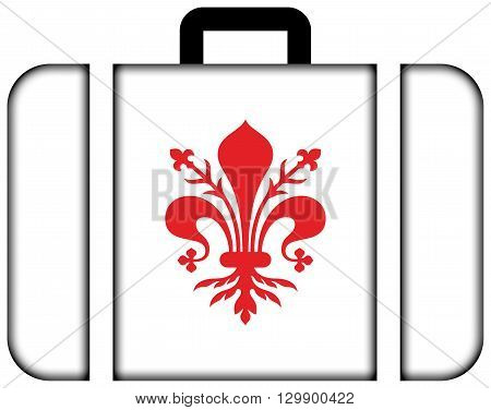 Flag Of Florence. Suitcase Icon, Travel And Transportation Concept
