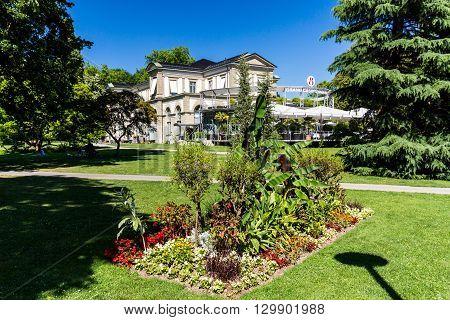 View Of The Kurpark And The Casino Of Baden, Switzerland