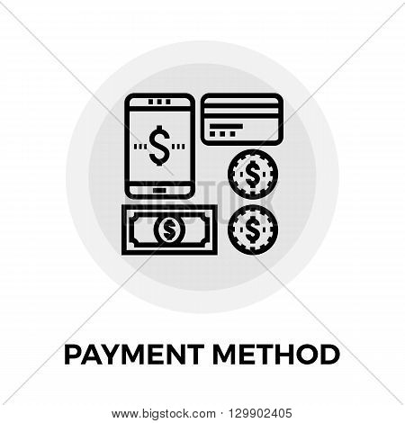 Payment Method icon vector. Flat icon isolated on the white background. Editable EPS file. Vector illustration.
