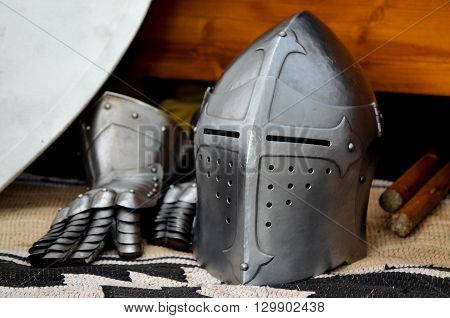 Knight's helmet medieval battle tournament history helm