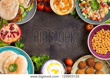 Middle Eastern Traditional Dishes Background