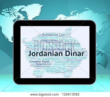 Jordanian Dinar Indicates Currency Exchange And Coin