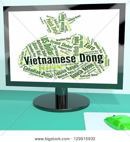 Vietnamese Dong Means Foreign Exchange And Banknotes