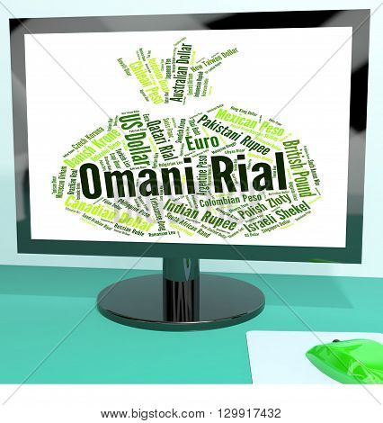Omani Rial Showing Forex Trading And Words poster
