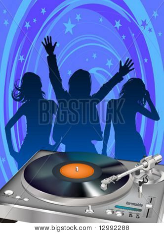 Turntable & dancing girls