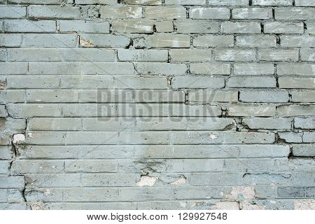 weathered grey brick wall for background or texture