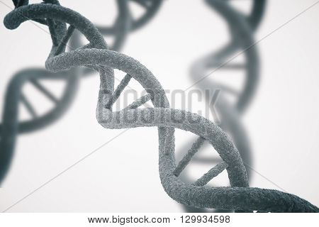 DNA closeup on white background. 3D Rendering