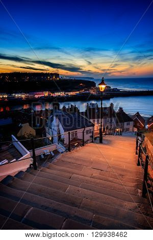 A view from the 199 steps whitby North Yorkshire UK