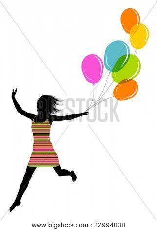 Girl with balls