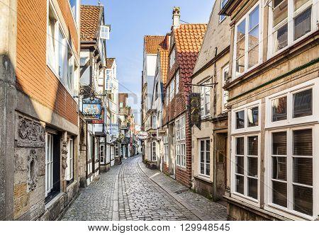 Houses In The Quarter Schnoor In  Bremen