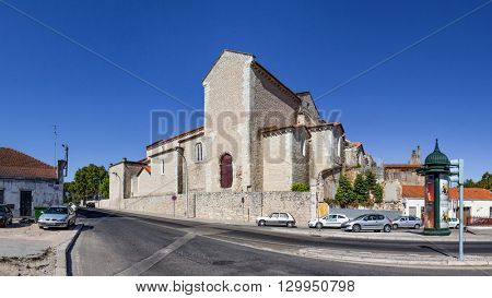 Santarem, Portugal. September 9, 2015: Sao Francisco Convent in the city of Santarem, Portugal. 13th century Mendicant Gothic Architecture. Franciscan Religious Order.