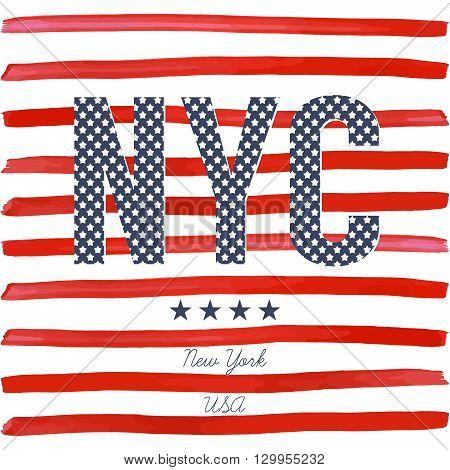 T-shirt Typography Design, Nyc Printing Graphics, Typographic  Vector Illustration, New York Graphic