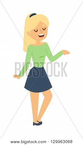 Illustration teenagers chatting talking girl. Talking girl vector character and cute talking girl. Talking girl beautiful happy woman and conversation smiling pretty talking girl. Friends talk teen.