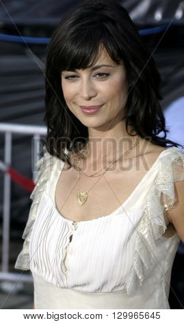 Catherine Bell at the Los Angeles premiere of 'Collateral' held at the Orpheum Theatre in Los Angeles, USA on August 2, 2004.