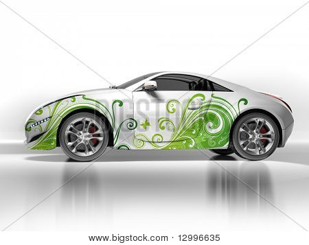 Environment-friendly car.  My own car design. Not associated with any brand.