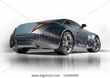 Sportwagen isolated on white Background. meine eigene Auto-Design. keiner Marke zugeordnet.