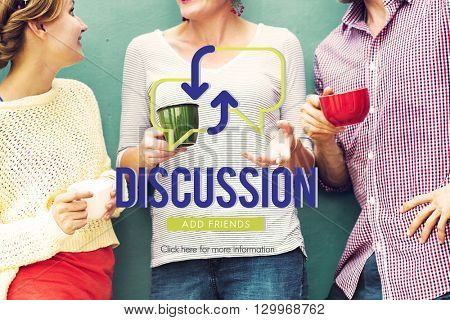 Discussion Sharing Communication Concept