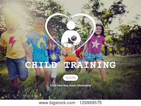 Child Training Maternity Love Family Concept
