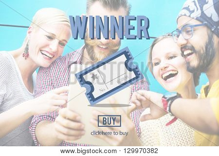 Winner Best Champion Competition Lucky Success Concept